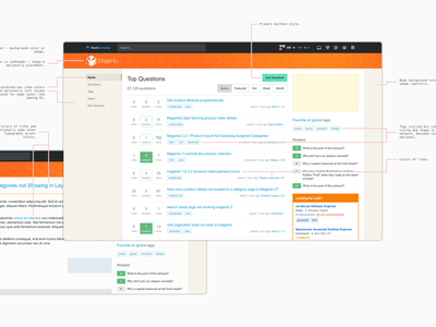 Theming Spec layout listing orange magento spec