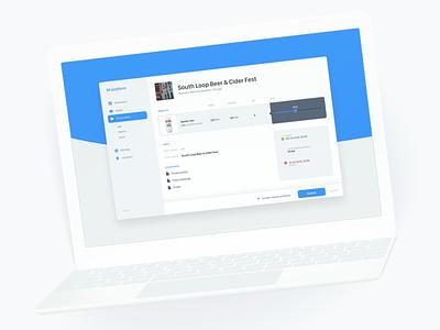 Platform nav sidebar app product list