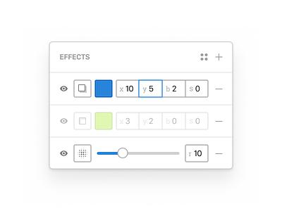 Figma Effects Panel edit form panel effects figma