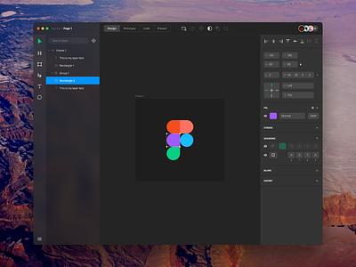 Figma Redesign dark ui dark mac os x redesign ux ui app figma