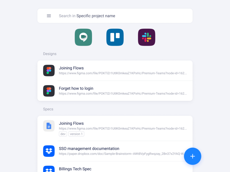 Bookmarks manager app search fab listing links bookmarks