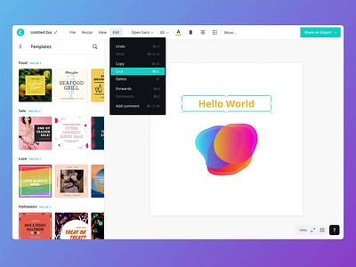 Editor dark mode app ui webapp editor