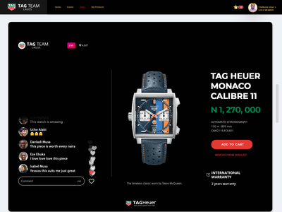 Tag Heur Store Product Page