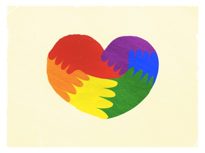 Love is us. pride valentines valentine day lover design color love is love heart colors happy illustration weekly warm-up love day