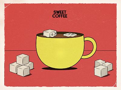 How many of theme? sugar coffee cartoonish cartoon oldstyle vintage design vintageillustration illustration