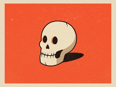 Old Skull old skull orange happy october design halloween autumn illustration