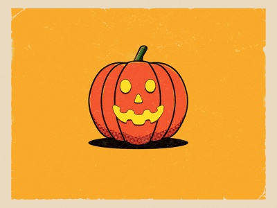 Funky Pumpkin! old fashioned cartoon pumpkin illustration design october autumn halloween