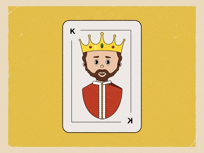 King Winnell Card! jewels gold crown character cards card design old game autumn weekly warm-up king illustration card