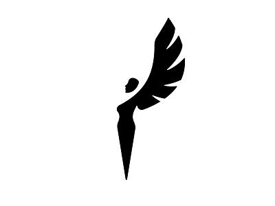 Black Swan Icon. weeklywarmup weekly warm-up icon design wings movie dancer ballet woman swan black and white black  white black