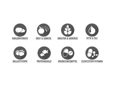 Ingredients ingredients golden ratio icons