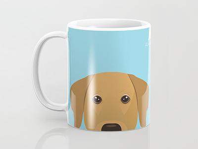 Let's get some coffee vector art vector illustration dog mug