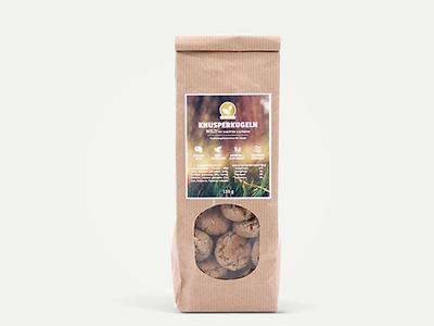 Knusperkugeln label product photography product packshot