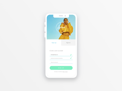 Daily UI #001 | Sign Up daily ui challenge visual design daily ui interface app signup 001 challenge mobile ux ui