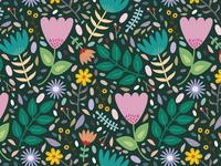Floral forever. Pattern design