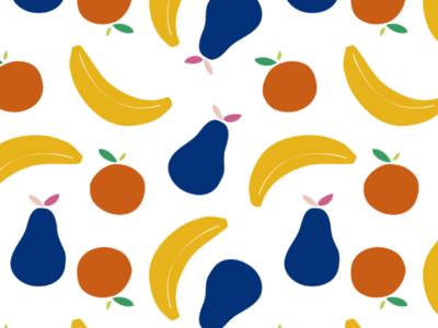 Fruits pattern backdrop banner background seamless pattern fruits pattern repetition pear orange banana food vector ilustration pattern design summer pattern fruits