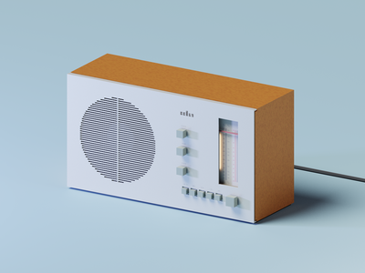 Voxel Tech: Braun RT20 Radio magicavoxel retro radio technology braun voxel art isometric art