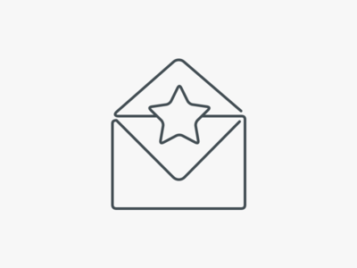 Awesome Mail favorite star mail icon