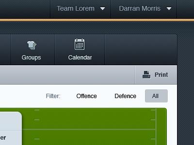 Spartanshot web app user interface