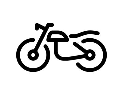 Monoline vintage motorcycle editor tab bar design tiny icons icons