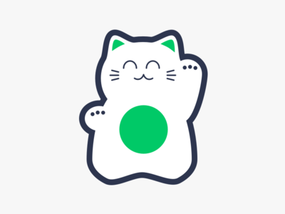Lucky Cat Icon japanese lucky cat cat lucky icon