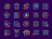 Data Science gradient icons