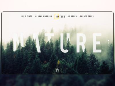 Nature Concept Landing Page