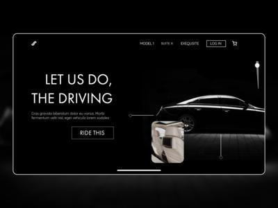 Autonomous Car Concept Landing Page
