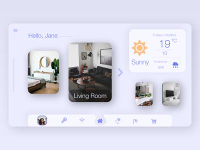 Smart Home Dashboard Concept