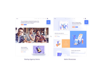 Foton - Software and App Landing Page Theme blue yellow orange purple marketing landing page software design saas foton flat creative app ux ui animation qode theme website wordpress modern