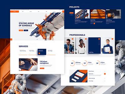 Wilmër - Construction Theme business qode interactive wordpress ux ui mockup website portfolio orange construction company clean building branding modern arhitecture