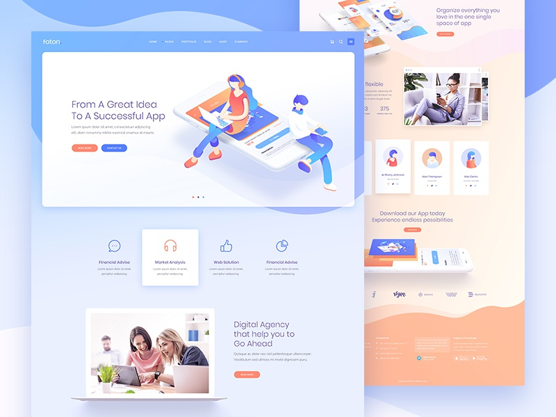 Foton - A Multi-concept Software and App Landing Theme by Zile for