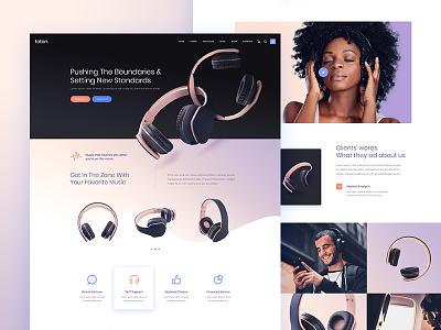 Foton - A Multi-concept Software and App Landing Theme ux design ui web design website web  design wordpres music app music light gradiant headphones modern presentation product design creative