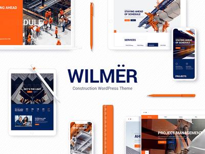 Wilmër - Construction Theme modern wordpress theme website management clean property company building portfolio architect construction