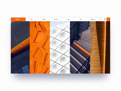 Wilmër - Construction Theme ux ui branding orange qode qode interactive wilmer theme wordpress portfolio modern construction company clean building arhitecture animation