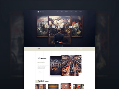Museum - History adventure ux animation ui theme qode modern wordpress journey adventure exhibition film events history musenm