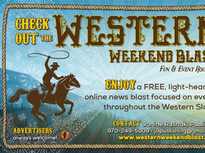 Western Weekend Blast logo and online ad illustration advertising design print collateral adobe indesign adobe illustrator logo graphic design