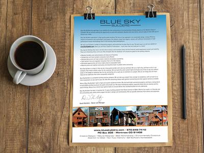 Blue Sky Builders Letter of Interest