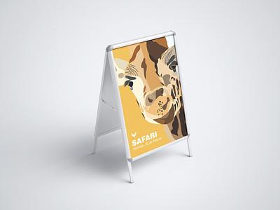 Giraffe branding art illustrator illustration wacom intuos minimal vector graphic design flat design
