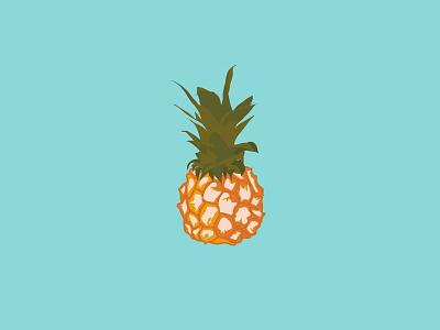 Pineapple Ice Cream wacom intuos art illustrator illustration branding vector minimal graphic design flat design