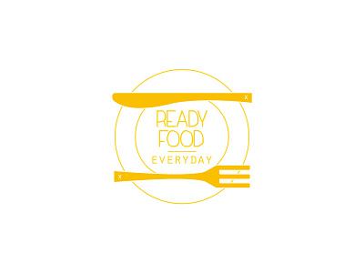 Ready Food - Cooking App illustrator logo app ui branding vector minimal graphic design flat design