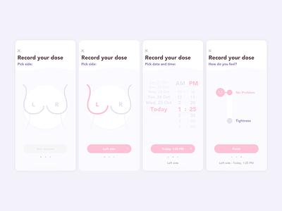 tissue expander ... dose recording mobile app minimal design minimalistic light user interface design user experience user interface userinterface ux design uxdesign ux  ui uxui ux ui design uidesign ui  ux uiux ui