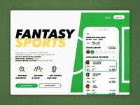 fantasy sports one page landing