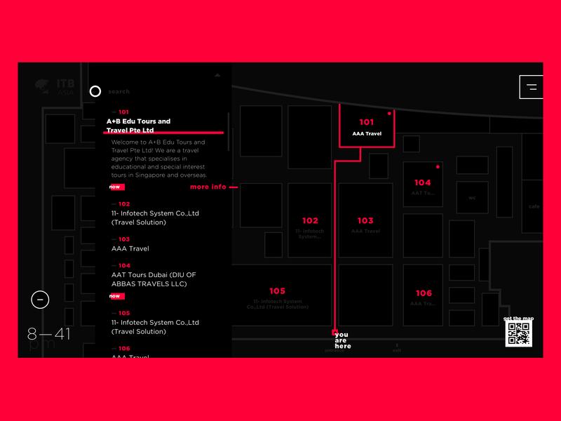 interactive map uxdesign user experience ux dark theme artsy app design event interface kiosk navigation map ui design uidesign ui  ux uiux ui