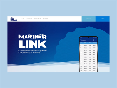 Mariner Link animation blue and white water blue firstscreen uiux ui design uidesign ui web design webdesign tide ripple wavy wave mariners marine