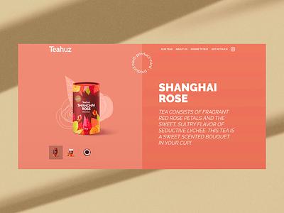 Teahuz Product Page animation web design ui ui design concept product page uidesign webdesign website tea