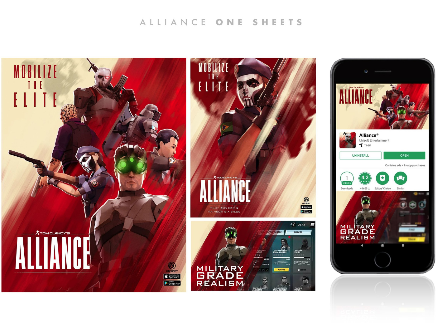Alliance Key Art and Social key art poster gaming videogames videogame tom clancy