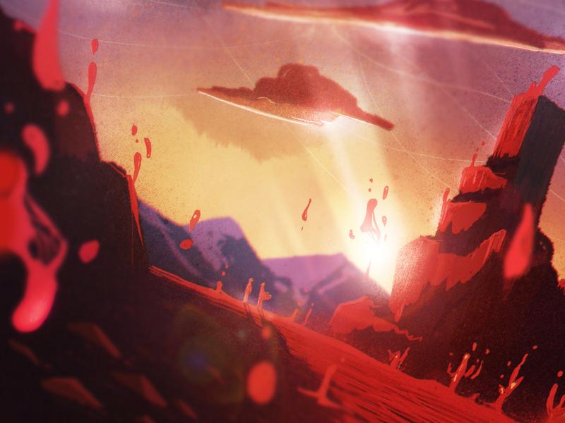 Salvation Is Coming desert design fantasy illustration