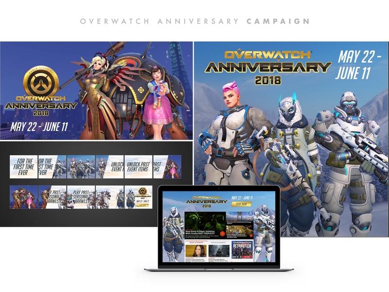 Amc Ad Portfolio Overwatch artdirector graphicdesigners gaming graphicdesign overwatch design