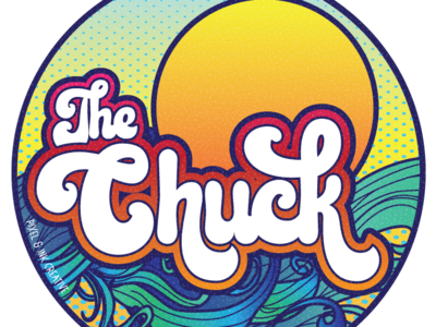 The Chuck illustration design typography vector