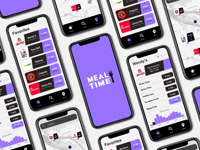 Meal Time App uiux design design app ui  ux